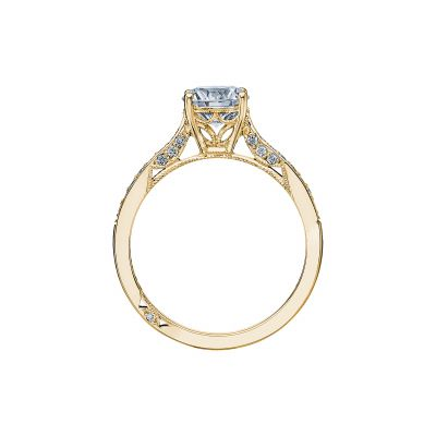 Tacori 2638RDP65-Y Yellow Gold Round Engagement Ring side