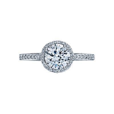 Tacori 2639RDP Dantela White Gold Round Engagement Ring