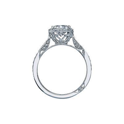 Tacori 2639RDP White Gold Round Engagement Ring side