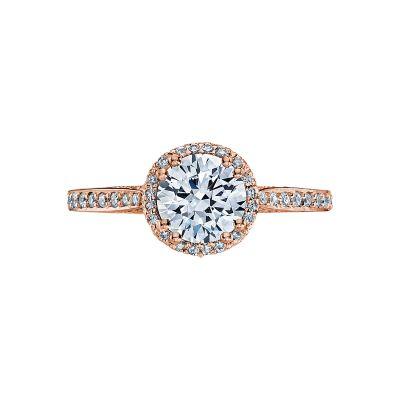 Tacori 2639RDP65-PK Dantela Rose Gold Round Engagement Ring
