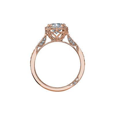 Tacori 2639RDP65-PK Rose Gold Round Engagement Ring side