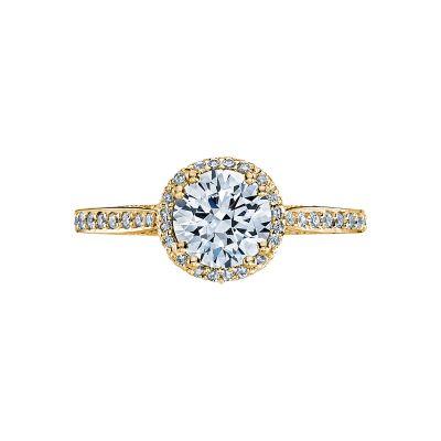 Tacori 2639RDP65-Y Dantela Yellow Gold Round Engagement Ring