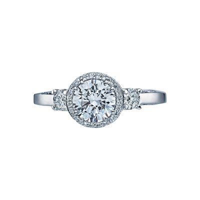 Tacori 2640RD Dantela White Gold Round Engagement Ring