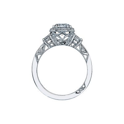 Tacori 2640RD White Gold Round Engagement Ring side