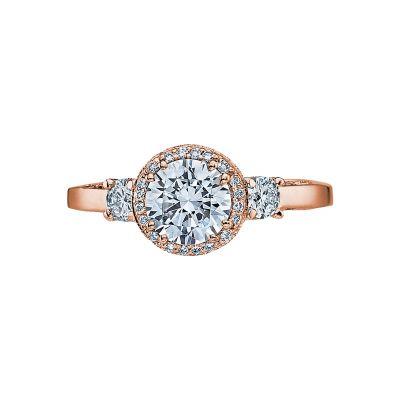 Tacori 2640RD65-PK Dantela Rose Gold Round Engagement Ring