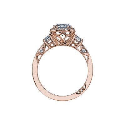 Tacori 2640RD65-PK Rose Gold Round Engagement Ring side