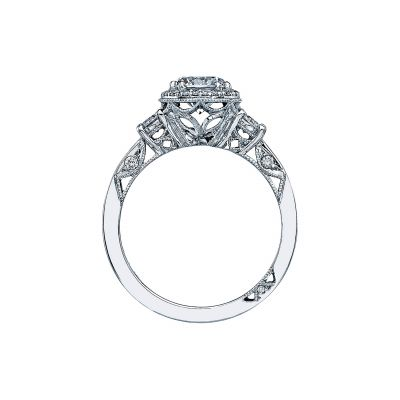 Tacori 2640RD65 Platinum Round Engagement Ring side