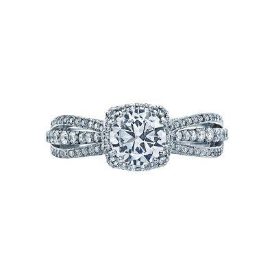 Tacori 2641CUP Dantela White Gold Round Engagement Ring