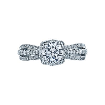 Tacori 2641CUP65 Dantela Platinum Round Engagement Ring