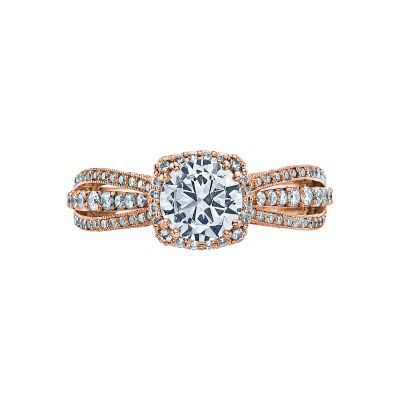 Tacori 2641CUP65-PK Dantela Rose Gold Round Engagement Ring