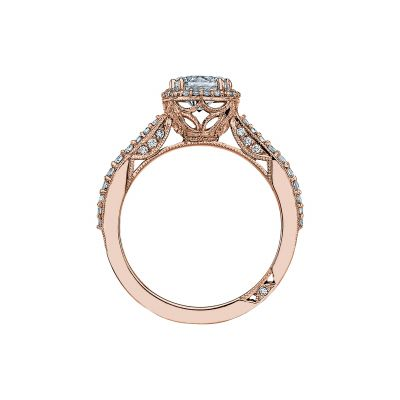Tacori 2641CUP65-PK Rose Gold Round Engagement Ring side