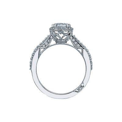 Tacori 2641CUP65 Platinum Round Engagement Ring side