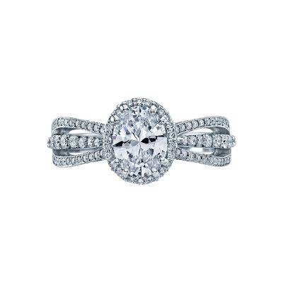 Tacori 2641OVP8X6 Dantela Platinum Oval Engagement Ring