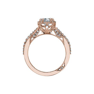 Tacori 2641OVP8X6-PK Rose Gold Oval Engagement Ring side