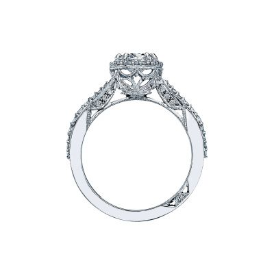 Tacori 2641OVP8X6 Platinum Oval Engagement Ring side
