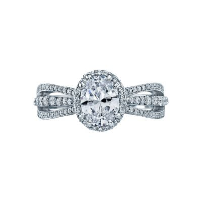 Tacori 2641OVP8X6-W Dantela White Gold Oval Engagement Ring