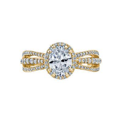 Tacori 2641OVP8X6-Y Dantela Yellow Gold Oval Engagement Ring