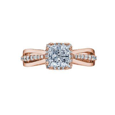 Tacori 2641PR6-PK Dantela Rose Gold Princess Cut Engagement Ring