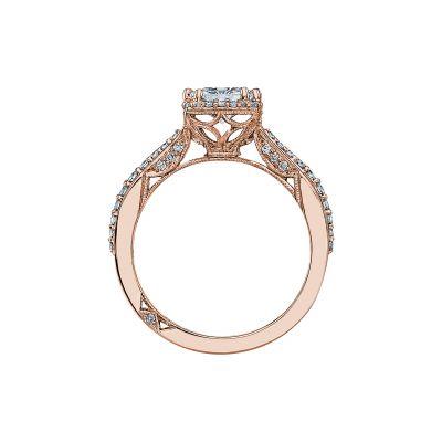Tacori 2641PR6-PK Rose Gold Princess Cut Engagement Ring side