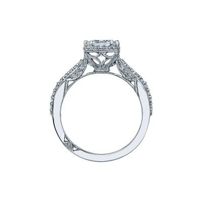 Tacori 2641PR6 Platinum Princess Cut Engagement Ring side