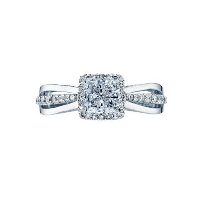Tacori 2641PR6-W Dantela White Gold Princess Cut Engagement Ring
