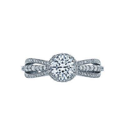 Tacori 2641RDP65 Dantela Platinum Round Engagement Ring