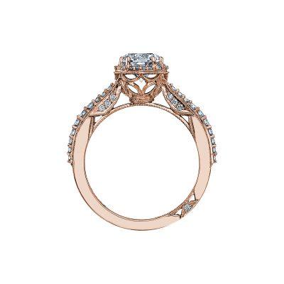Tacori 2641RDP65-PK Rose Gold Round Engagement Ring side