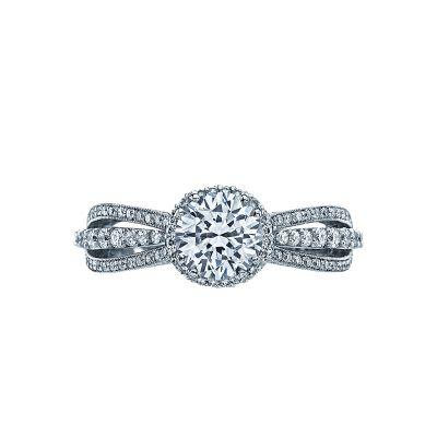Tacori 2641RDP65-W Dantela White Gold Round Engagement Ring
