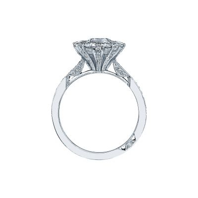 Tacori 2642RD White Gold Round Engagement Ring side