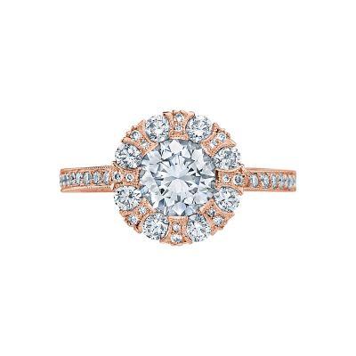 Tacori 2642RD65-PK Simply Tacori Rose Gold Round Engagement Ring
