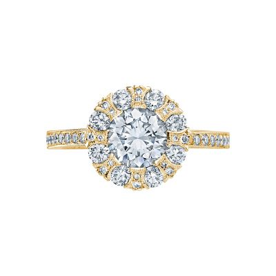 Tacori 2642RD65-Y Simply Tacori Yellow Gold Round Engagement Ring