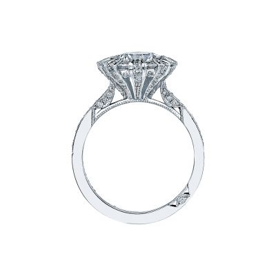 Tacori 2643RD White Gold Round Engagement Ring side