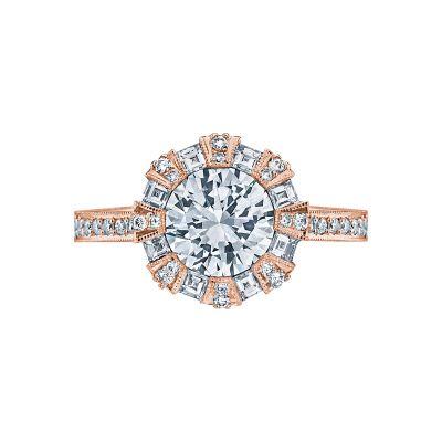 Tacori 2643RD75-PK Simply Tacori Rose Gold Round Engagement Ring