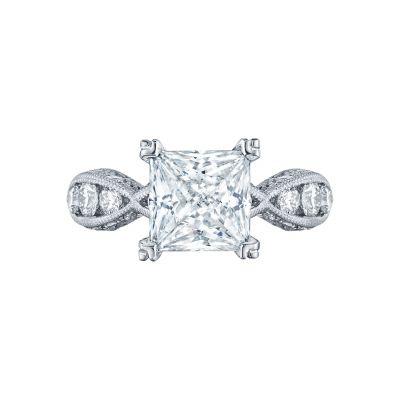 Tacori 2644PR Classic Crescent White Gold Princess Cut Engagement Ring