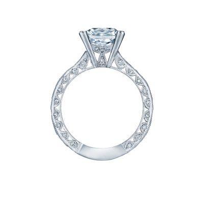 Tacori 2644PR White Gold Princess Cut Engagement Ring side