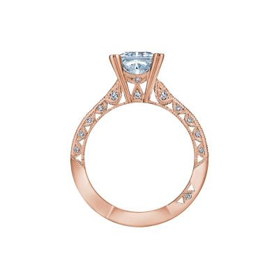 Tacori 2644PR6512-PK Rose Gold Princess Cut Engagement Ring side