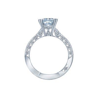 Tacori 2644PR6512 Platinum Princess Cut Engagement Ring side