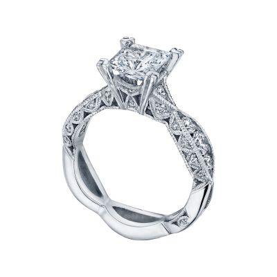 Tacori 2644PR6512 Platinum Princess Cut Twist Band Engagement Ring angle