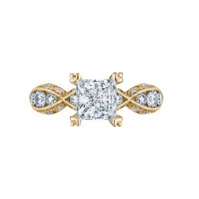 Tacori 2644PR6512-Y Classic Crescent Yellow Gold Princess Cut Engagement Ring