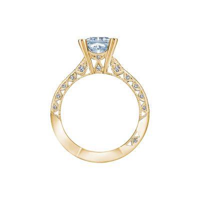 Tacori 2644PR6512-Y Yellow Gold Princess Cut Engagement Ring side