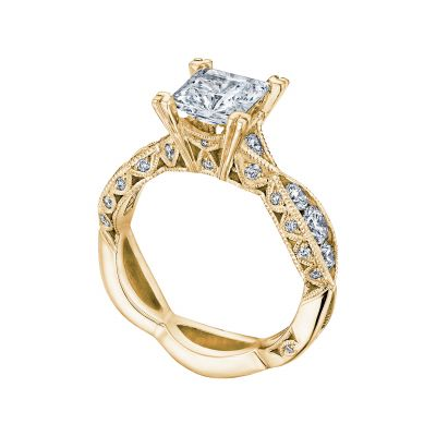Tacori 2644PR6512-Y Yellow Gold Princess Cut Twist Shank Engagement Ring angle