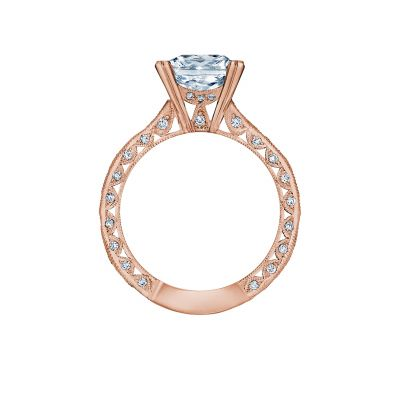 Tacori 2644PR834-PK Rose Gold Princess Cut Engagement Ring side