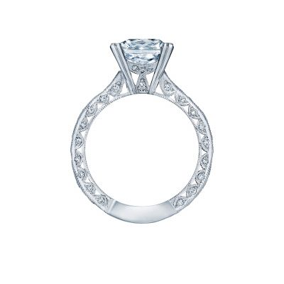 Tacori 2644PR834 Platinum Princess Cut Engagement Ring side