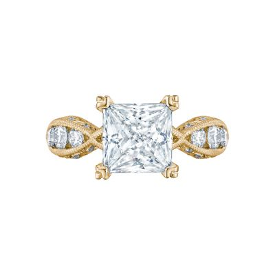 Tacori 2644PR834-Y Classic Crescent Yellow Gold Princess Cut Engagement Ring