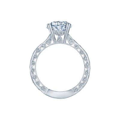 Tacori 2644RD White Gold Round Engagement Ring side
