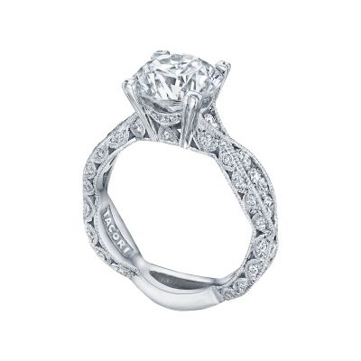 Tacori 2644RD White Gold Round Twist Band Engagement Ring angle