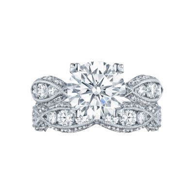 Tacori 2644RD White Gold Round Twist Band Engagement Ring set