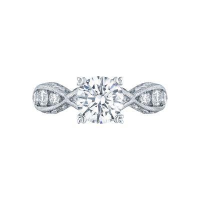 Tacori 2644RD7512 Classic Crescent Platinum Round Engagement Ring
