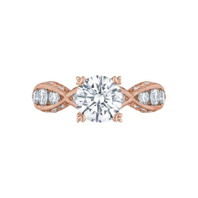 Tacori 2644RD7512-PK Classic Crescent Rose Gold Round Engagement Ring