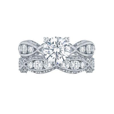 Tacori 2644RD7512 Platinum Round Twist Band Engagement Ring set